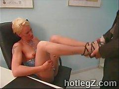 Fetish del piede raccolta con i pulcini della sexy del
