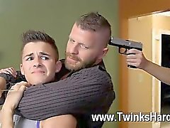 Orgía gay Andy Taylor, Ryker Madison y de Ian de Levine fueron 3 diminuta