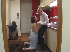 Asiatisk MILF Banged Japanese