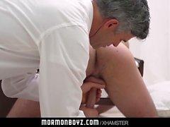 MormonBoyz Missionary boy fucked bareback by Mormon daddy