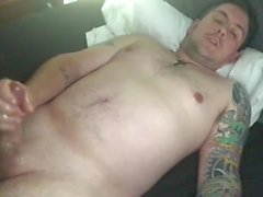Guy Talks Dirty and Has Intense Moaning Orgasm