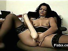 Superbo Spagnole Sesso con pugni Sarchiatrici usate Nudo