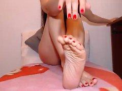 Horny lesbian foot fetish