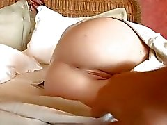 Randy redhead Faye Reagan parts her piss flaps for a good pussy pumping