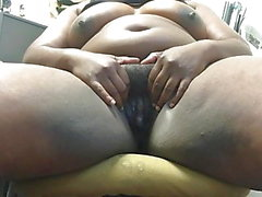 Ebony bbw Votzenspiel