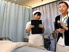 CFNM Subtítulos las enfermeras japonesas PrEP la relación sexual