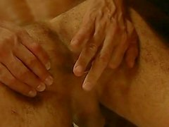 Guy is making an acrobatic trick sucking his own cock