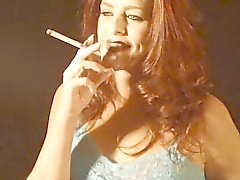 Hot Redhead Cougar Solo Smoking 120s