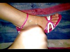aunty's cum sandals
