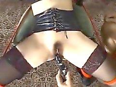 Vincolati Japanese Girl ottiene figa giocato con
