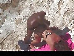 Estrangeiro - Hidden Cam Пара, черный чувак трахает большой зад
