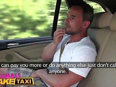 Mujer Fake Taxi Masiva tetas cabbie quiere polla