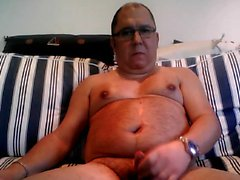nonno cum in webcam