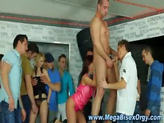 Hungry bisex group of hunks and babes