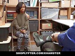 ShopLyfter - adolescente linda ébano comercio sexual para la Libertad