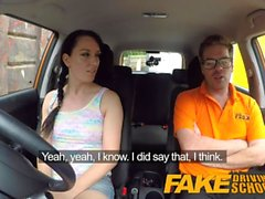 Fake Driving School Messy creampie climax for sexy tracer l'apprenant