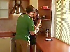 Orgasm sex of Cute Adorable amazing Teen Beauty in kitchen