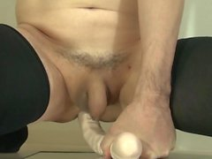 039 Double-Header-Dildo Anal insert and Cumshot