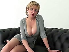 Cheating british milf gill ellis displays her big balloons