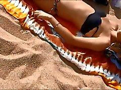 Young topless teini Barcelonan Las Espanjalainen ranta