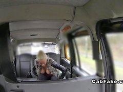 Грудастые светлые челку Финская на такси