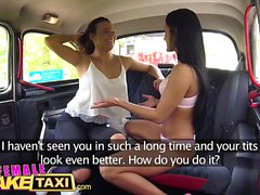 Female Fake Taxi Smoking hot Czech mates share