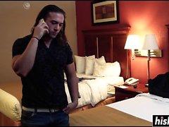 Slutty niña golpeó en su habitación de hotel