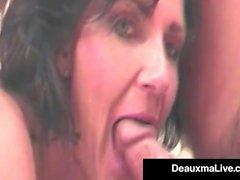Super Hot mamma Deauxma ci mostra una delle sue opere prime Hot!