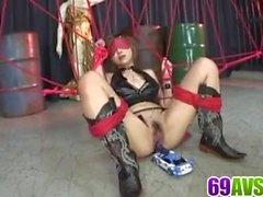 Honoka Kuriyama sérieux porno jouet en action de groupe