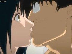 Del anime pechugón consigue enorme consolador dentro de