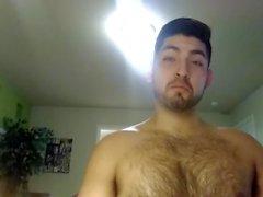 Sudato Dopo L'allenamento Corpo Masturbazione piano del pene peloso Latino Don Ston