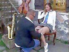 Leraar neuken schoolmeisje in uniform