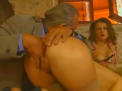 Couple Sharing Blonde Housewife...F70