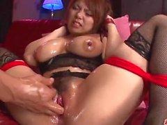 Tetona Kanna Itou encanta posar cuando chupar y follar