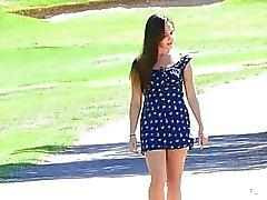 Jennan tyttö puistoon ruskea tissit karva pussy