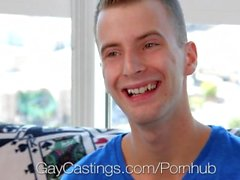 GayCastings - Calvin Cuffs Gets Porn Job After Fucking Agent