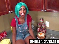 Etapa Irmão novo fala Ebony Passo Irmã para a cozinha Sex