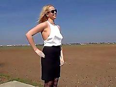 Блондинку Биг трах подростковой задницу природе