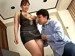 Censurerad tjock asiatisk kvinna knulla