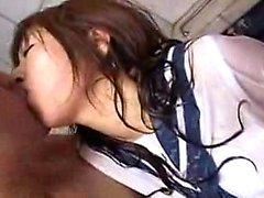 Houkutteleva japanilaiset teen with upea tiaiset ja perse nauttii