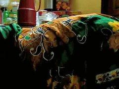 Bangladesh, rural, mulher, dobrar, sobre