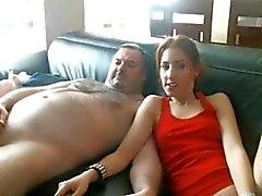 толстый человек получать минет из