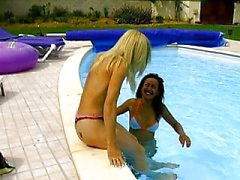 French pool licking action