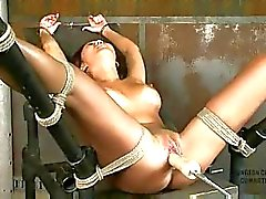 Beti hana tied up and machine fucked