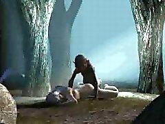 Baby 3D que começa fodido duramente do bosque pela Gollum
