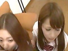 De CFNM Subtítulos las escolares Japón de felación TagTeam