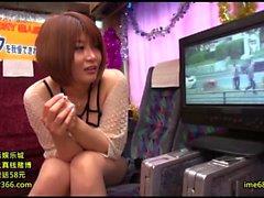 Tan Japanese gyaru in POV handjob blowjob rimjob orgy