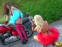 Molly Cavalli posing for cute Lily Carter