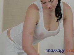 hot massage brunette