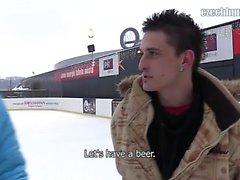 Наконец пришла зима в Чехии. я был